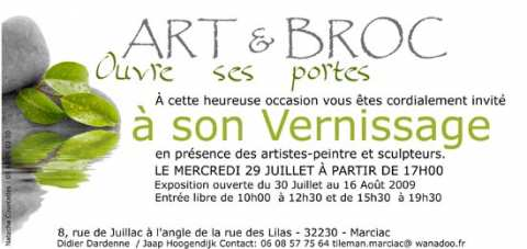 flyer expo Art et Broc à Marciac